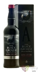 "Famous Grouse "" Black Grouse Alpha edition "" gift box blended Scotch whisky 40%vol.  0.70 l"