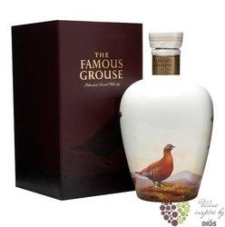 "Famous Grouse  "" Celebration "" ltd. ceramic decanter blended Scotch whisky 40% vol.    0.70 l"