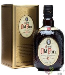 "Old Parr "" Grand "" 12 years old extra rich blended Scotch whisky 43% vol.    0.70 l"