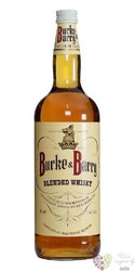 Burke & Barry blended Scotch whisky 40% vol.  1.00 l