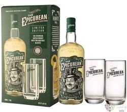 "Douglas Laing "" the Epicurean "" gift set Lowland blended malt whisky 46.2% vol.  0.70 l"