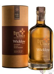 "Barr an Uisce "" Wicklow "" aged 10 years single malt Irish whiskey 40% vol.  0.70 l"