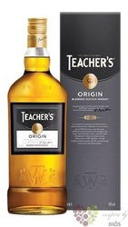 "Teacher´s "" Origin "" blended Scotch whisky 40% vol.  1.00 l"