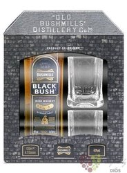 "Bushmills "" Black Bush "" gift set premium blended Irish whiskey 40% vol.  0.70 l"