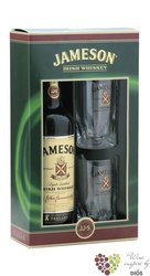 Jameson 2 long glasses pack triple distilled Irish whiskey 40% vol.     0.70 l