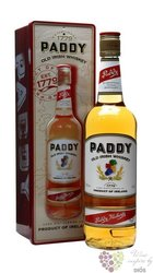 Paddy metal box old Irish blended whiskey 40% vol.    0.70 l