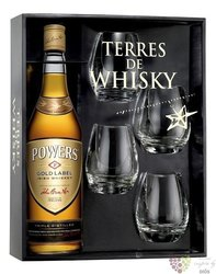 "Powers "" Gold label "" 4glass pack blended Irish triple distilled whiskey 43.2% vol.  0.70 l"