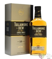 "Tullamore Dew "" Four cask finish "" aged 10 years single malt Irish whiskey 40% vol.   0.70 l"