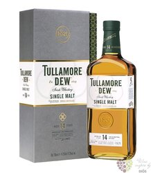 "Tullamore Dew "" Triple distilled "" aged 14 years single malt Irish whiskey 41.3% vol.  0.70 l"