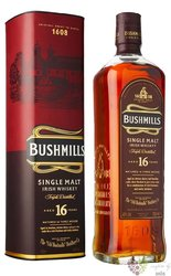 "Bushmills "" Three woods "" aged 16 years single malt Irish whiskey 40% vol.  0.70 l"