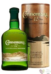 Connemara aged 12 years wood box peated single malt Irish whiskey 40% vol.    0.70 l