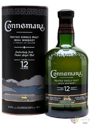 Connemara aged 12 years gift box peated single malt Irish whiskey 40% vol.    0.70 l