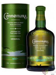 Connemara Peated gift box single malt Irish whiskey 40% vol.     0.70 l
