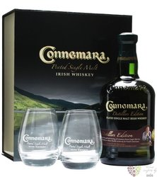 "Connemara "" Peated distillers edition "" 2glass pack single malt Irish whiskey 40% vol.     0.70 l"