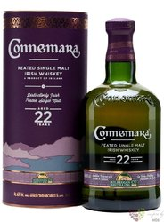 Connemara aged 22 years peated single malt Irish whiskey 46% vol.    0.70 l