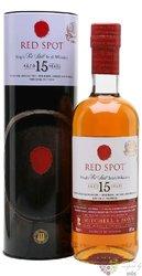 Red Spot aged 15 years Pure pot still Irish whiskey Mitchell & Son 46% vol.  0.70 l