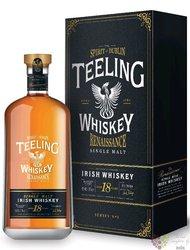 "Teeling Single cask 2001 "" Renaissance no.2 "" aged 18 years Irish whiskey 46% vol.  0.70 l"