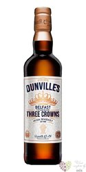 "Dunville´s "" three crowns "" Belfast vintage blend Irish whiskey 43.5% vol.  0.70 l"