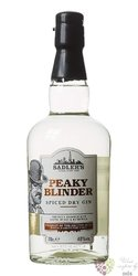 """Peaky Blinder """" Spiced dry """" Small batch English gin by Sadler´s 40% vol.  0.70 l"""