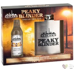 """Peaky Blinder """" Spiced dry """" flask set English gin by Sadler´s 40% vol.  0.05 l"""