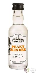 "Peaky Blinder "" Spiced dry "" Small batch English gin by Sadler´s 40% vol.  0.05 l"