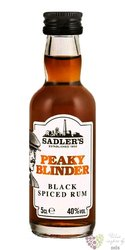 "Peaky Blinder "" Black Spiced "" blended flavored rum by Sadler´s 40% vol.  0.05 l"