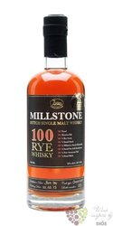 "Millstone "" 100 "" Dutch pure rye whisky by  Zuidam 50% vol.    0.70 l"