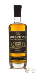 "Millstone "" Menage a Trois no.3 "" Dutch three grain whisky Zuidam 46% vol.   0.70 l"
