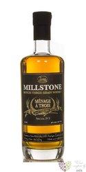 "Millstone "" Menage a Trois no.3 "" Dutch three grain whisky Zuidam 46% vol.   0.70 l"
