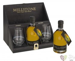 Millstone 2glass pack Dutch single malt whisky Zuidam 40% vol.    0.35 l