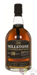"Millstone "" American oak "" aged 10 years Dutch single malt whisky Zuidam 43% vol.    0.70 l"