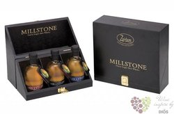 "Millstone "" Gift set "" Dutch single malt whisky Zuidam     WB 3x0.20l"