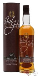 "Paul John "" Brilliance "" single malt Indian whisky 46% vol.  0.70 l"