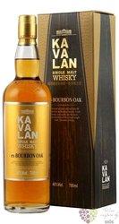 "Kavalan "" ex - Bourbon oak "" single malt Taiwanese whisky 46% vol.    0.70 l"