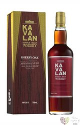 "Kavalan "" Sherry oak "" single malt Taiwanese whisky 46% vol.    0.70 l"