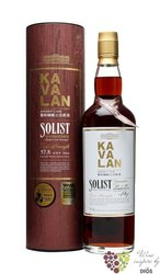 "Kavalan Solist "" Sherry cask "" single malt gift tube Taiwanese whisky  58.6% vol.   0.70 l"