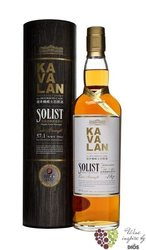 "Kavalan Solist "" Bourbon cask "" single malt Taiwanese whisky 58.2% vol.   0.196l"