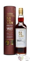 "Kavalan Solist "" fino sherry cask "" single malt Taiwanese whisky 57.8% vol.   0.70 l"