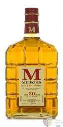 Milford 20 years old New Zealand single malt whisky 43% vol.   0.75 l