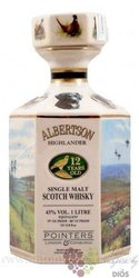 "Pointers "" Albertson "" aged 12 years Highland single malt whisky 43% vol.  1.00l"