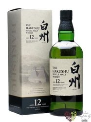 Hakushu aged 12 years single malt Japan whisky by Suntory 43.5% vol.   0.70 l