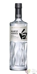 Suntory Haku Japanese ultra premium vodka 40% vol.  1.00 l
