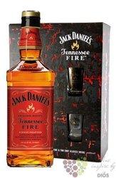 "Jack Daniels "" Fire "" 2glass pack original Tennessee whiskey liqueur 35% vol.0.70 l"