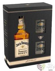 "Jack Daniels "" Honey "" 2glass pack ed.2017 Tennessee whiskey liqueur 35% vol.0.70 l"