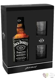 "Jack Daniel´s "" Black label "" 2glass gift box ed. 2019 Tennessee whiskey 40% vol.  0.70 l"