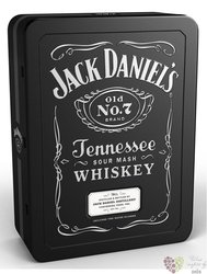 "Jack Daniel´s "" Black label "" 2glass metal box ed. 2018 Tennessee whiskey 40% vol.  0.70 l"