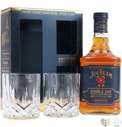 "Jim Beam "" Double oak "" 2glass pack Kentucky straight bourbon whiskey 43% vol. 0.70 l"
