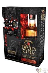 "Jim Beam "" Devil´s Cut "" poker set Kentucky straight bourbon whiskey 45% vol.  0.70 l"