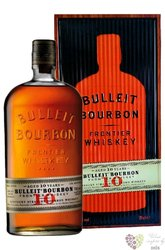 "Bulleit "" Frontier "" aged 10 years gift tube straight American bourbon 45.6% vol.  0.70 l"