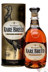 "Wild Turkey "" Rare Breed "" barrel proof Kentucky straight bourbon whiskey 54.2%vol.    0.70 l"